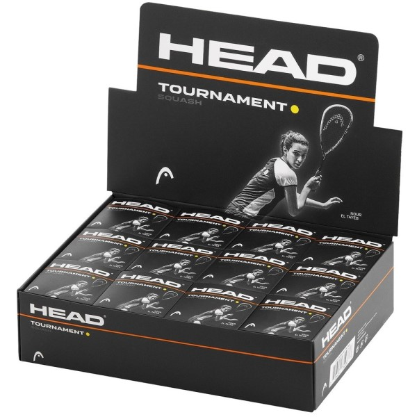 Head Tournament Squash Ball - Box Of 12 - Single Dot