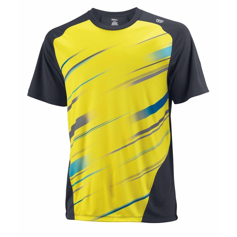 wilson cardiff blur stripe crew mens tennis t shirt sun online sportitude. Black Bedroom Furniture Sets. Home Design Ideas