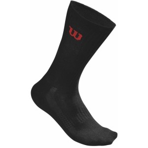 Wilson Mens Tennis Crew Socks - 3 Pack - Black