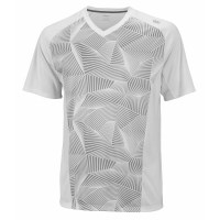 Wilson Solana Geometric V-Neck Mens Tennis T-Shirt