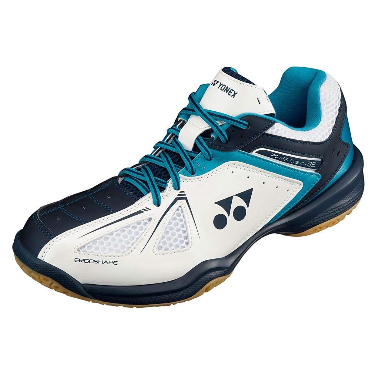 yonex power cushion 35 mens badminton shoes blue white. Black Bedroom Furniture Sets. Home Design Ideas