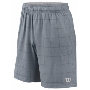 Wilson Star Plaid 9 Inch Mens Tennis Shorts