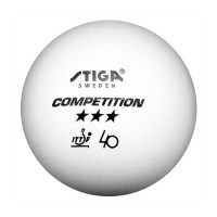 Stiga Competition Three Star Table Tennis Balls - 3 Pack