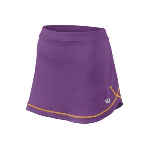 Wilson Mesh 11 Inch Kids Girls Tennis Skirt