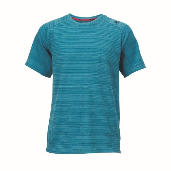 Wilson Barre Kids Boys Tennis Crew Shirt - Ultramarine/Pacific Teal