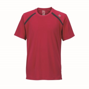 Wilson Inset Kids Boys Tennis Crew Shirt