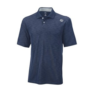 Wilson Textured Mens Tennis Polo Shirt