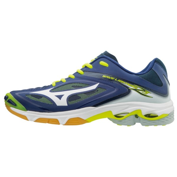 Mizuno Wave Lightning Z3 Mens Court Shoes - Navy/White/Yellow