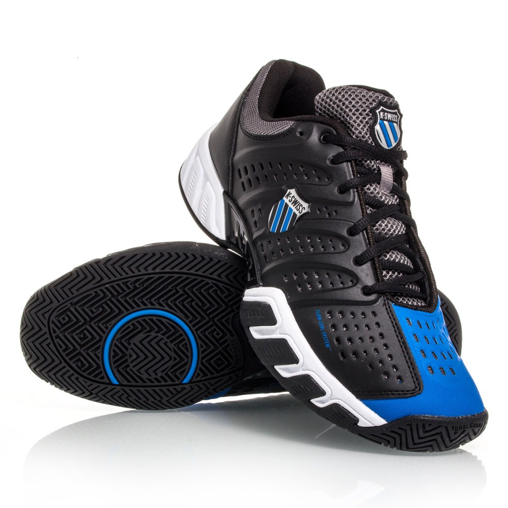 k swiss bigshot light mens tennis shoes black blue