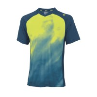 Wilson Smoke Print V-Neck Mens Tennis T-Shirt