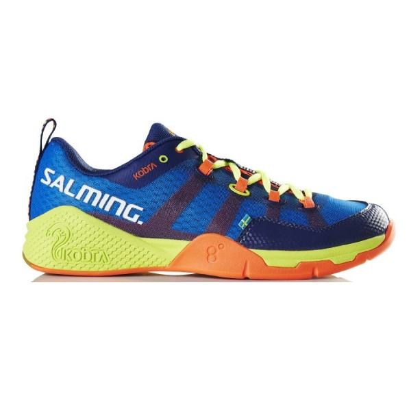 Salming Kobra - Mens Court Shoes - Blue/Yellow