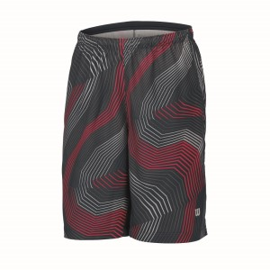 Wilson Geo Print 8 Inch Kids Boys Tennis Shorts